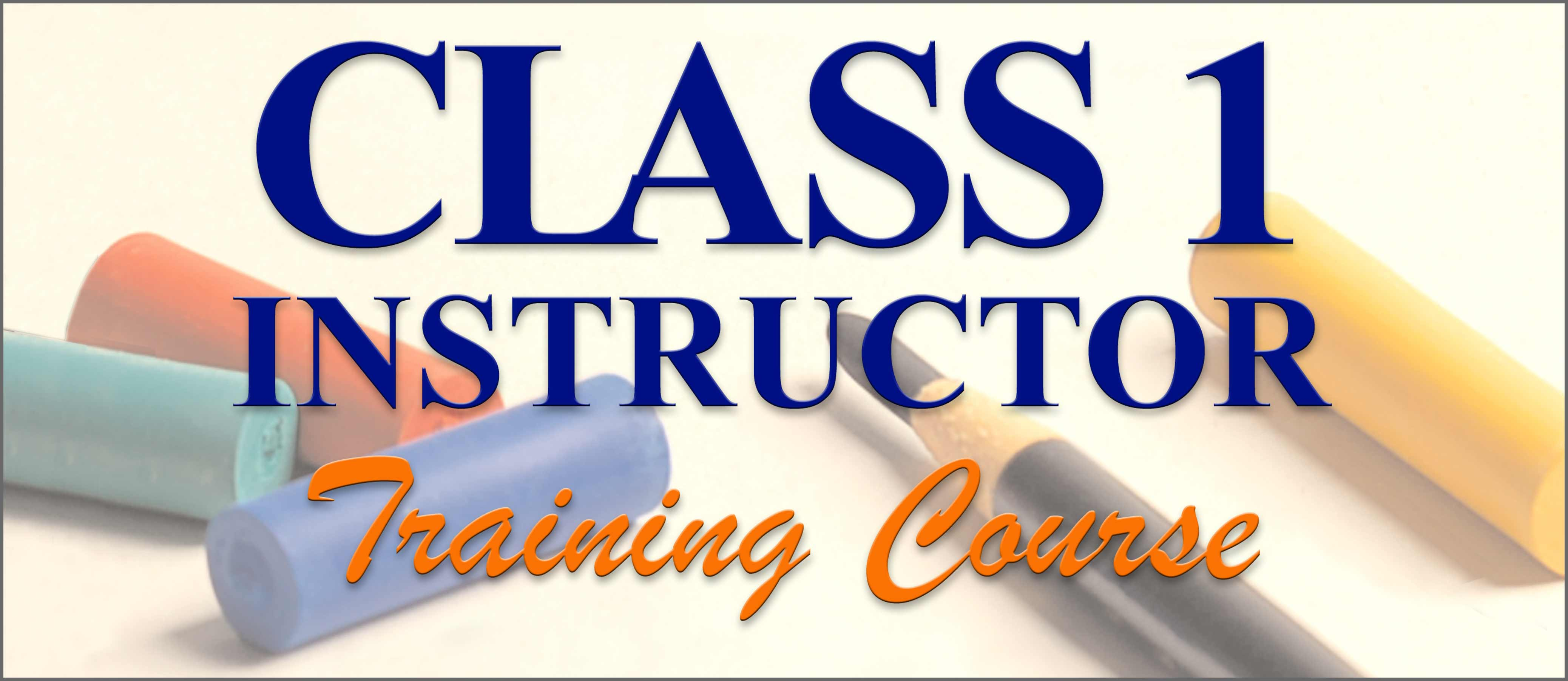 Class I Instructor Training Course